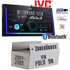JVC Autoradio für VW Polo 9N Bluetooth MP3 USB Einbauzubehör Einbauset Radio PKW
