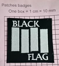 #101 BLACK FLAG EMBROIDERED  IRON ON /SEW ON PATCH