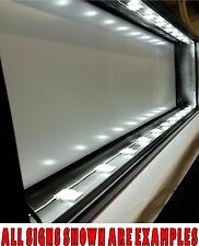 4'x6' LED Lighted Box Sign, Double Sided Fully Built