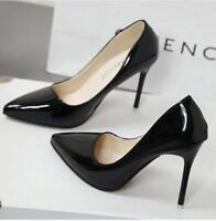 Ladies Womens Pointed High Heels Smart Work Party Pumps Court Shoes New Size
