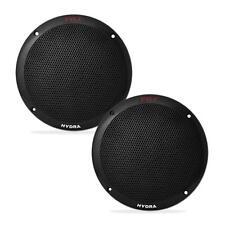 NEW Pyle Pair of 400 Watts 6.5 Dual Cone 2-Way Full Range Black Marine Speakers