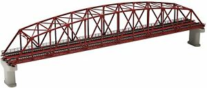 TOMIX N gauge double-track song chord large truss iron bridge F red double-