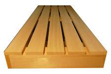 Saunabank Saunaliege Sauna Liege Holzbank Bank Holz  194,5x53cm Saunabau Abachi
