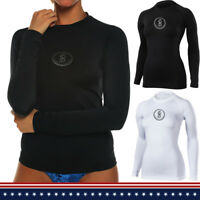 Womens Long Sleeve Bikini Top Swim Shirt Blouses SPF40+ Swimsuit Swimwear
