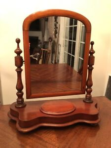 ANTIQUE MAHOGANY ARTS & CRAFTS ADJUSTABLE SHAVING DRESSER TOP MIRROR*****