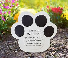 Pet Graveside Ornament Plaque My Special Dog Paw Sadly Missed Grave Stone