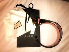 Womens Ladies Leather Reversible Gucci Belt BNWT 100% authentic black/dusky pink