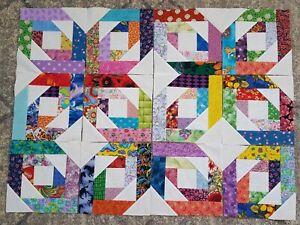 12Pineapple BlossomQuilt Top Fabric Blocks Squares