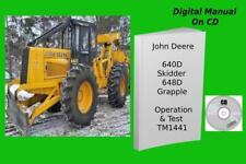 John Deere 640d Skidder 648d Grapple Skidder Operation Amp Tests Manual Tm1441