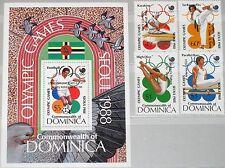 DOMINICA 1989 1189-92 Block 146 1151-1155 Olympics 1988 Gold Medal Winner ovp **