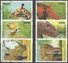 Timbres Animaux Guinée 1111/6 o lot 26098