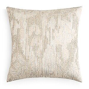 """Hudson Park Collection Embroidered Texture 20"""" Decorative Pillow - Champagne"""