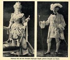 Der Rokokoball der Herzogin Auguste (von Bayern) Historical Memorabilia von 1910