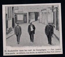 1906  --  MR ROCKEFELLER DANS LES RUES DE COMPIEGNE  OISE 60   3P268
