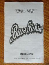 1997 Takani BASS FISHIN' Fishing Handheld Electronic Game 3732 Instructions Only