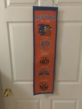 New York NY Knicks NBA Heritage Banner Logos 8x32 Winning Streak FREE SHIPPING