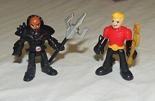 New Fisher Price Imaginext DC Superfriends Blind Bag Black Manta Aquaman 2 Pack