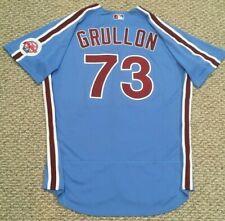GRULLON #73 size 50 2020 PHILADELPHIA PHILLIES Home RETRO Game Jersey MLB holo