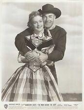 """PATRICE WYMORE & RANDOLPH SCOTT in """"The Man Behind the Gun"""" Original Vint. 1953"""