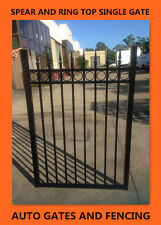 Swing Single Gate  /Front gate Black Spear and Ring  1500mm X1060(w) mm