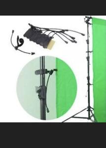LS LimoStudio Photo Pro 4216 Backdrop Holder Clips Set of 8 NIP Green Screen.
