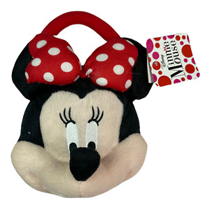 """Disney MINNIE MOUSE  Plush Soft Face Purse-Hand Bag-10""""wide - 10""""tall - NEW #470"""