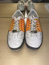 DSQUARED2 Leather Sneakers Striped Orange Logo UK 9.5 EU 44 US 10 *RARE*