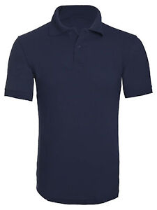Mens Plain Casual Short Sleeve Polo T Shirt Casual Work Wear Best Quality Top