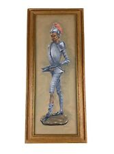 """Don Quixote Painting By Doris Reese Wood Frame Authentic Original Signed 18""""x4"""""""