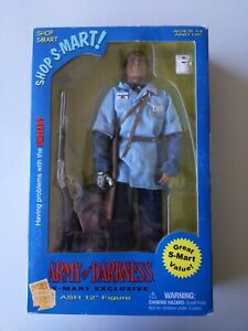 """SIDESHOW EXCLUSIVE S-MART ASH 12"""" FIGURE ARMY OF DARKNESS RARE!!! Bruce Campbell"""