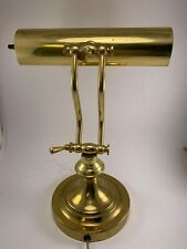 Vintage Underwriters Laboratories Portable Brass Piano or Bankers Desk Lamp