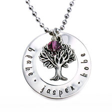 Personalised Family Tree Name Necklace Valentine Gift For Mum Wife Daughter D210