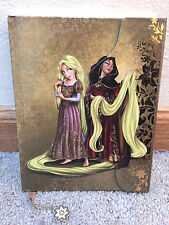 Disney Store Fairytale Designer Tangled Rapunzel Gothel Hero Villain Journal