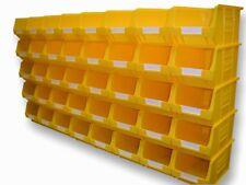 40 X CLEARANCE USED BARTON YELLOW TC3 PLASTIC PARTS STORAGE BINS