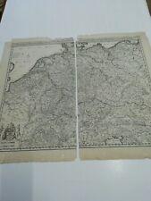 Karte von Deutschland, um 1750. Von Reichelt und Nikolaum Visscher, Amsterdam.