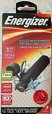 ENERGIZER RUGGED WEATHERPROOF PORTABLE USB CHARGER 1800 mAh w/ Carabiner clip
