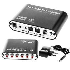 5.1 AC3 DTS HD Audio Decoder Digital Sound Decoder Optisch SPDIF Coaxial to 6RCA