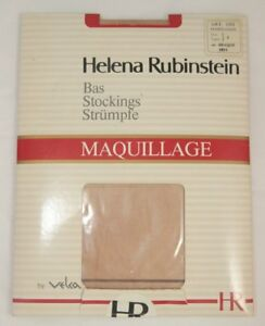 Helena Rubinstein Stockings Maquillage Size 1 8.5 - 9 Lace Top Monofilament