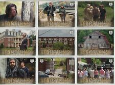 Walking Dead Road To Alexandria Complete Factions Chase Card Set F1-10