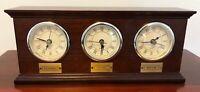 Bombay Company Wood Time Zone Clock LA NY Chicago