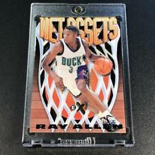 RAY ALLEN 1996 SKYBOX E-X2000 #1 NET ASSETS DIE CUT ROOKIE INSERT CARD NBA HOF