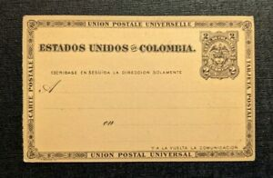 Mint Vintage Colombia Postal Stationary Postcard