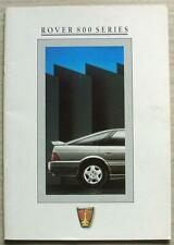 ROVER 800 SERIES Car Sales Brochure c1988 #4012 820 827Si Vitesse STERLING