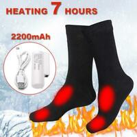 Men Women Winter Warm Electric Heating Socks Thermal Cotton Rechargeable Heated