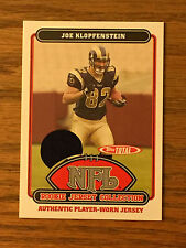 2006 Topps Total JOE KLOPFENSTEIN Game Used Jersey Relic Football Card