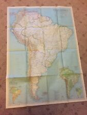 Vintage map. South America National Geographic, Original, circa 1937
