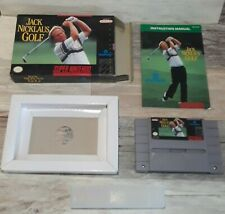 Snes Jack Nicklaus Golf. Game, Manual, Box, Tray, & Cap. Cib Complete Underrated