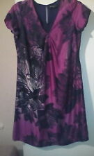 Pure Washed Silk Autograph Magenta Mix Dress sz16