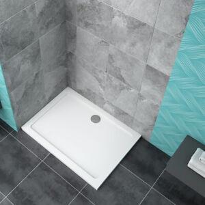Rectangle Stone Tray  Free Waste 30mm Slimline Shower Enclosure Walk in Wet Room