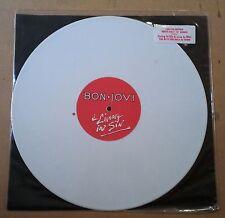 "Bon Jovi Living In Sin maxisingle 12"" UK vinilo color blanco + encarte color"
